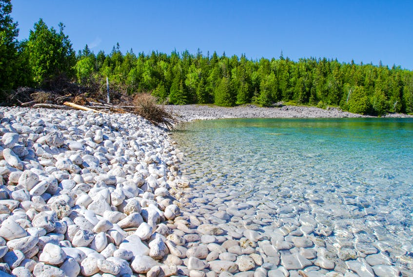 The shores of the Bruce Peninsula, Ont.