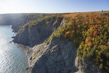 Cape Chignecto Provincial Park is beautiful and rugged, making it the perfect place for experienced hikers to check out fall foliage. - Photo Courtesy Communications Nova Scotia.