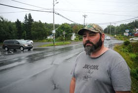 Joe Pennell's home on Route 70 is a short distance from where the provincial road intersects Shearstown Road and Cross Road.