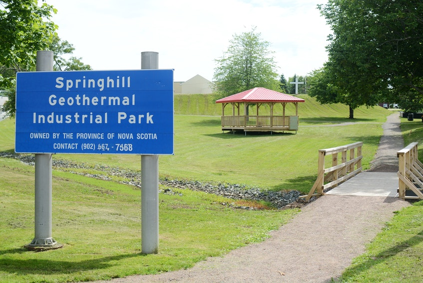 A concept design for a mine water geothermal business park in Springhill is being created by DesignPoint Engineering & Surveying Ltd.