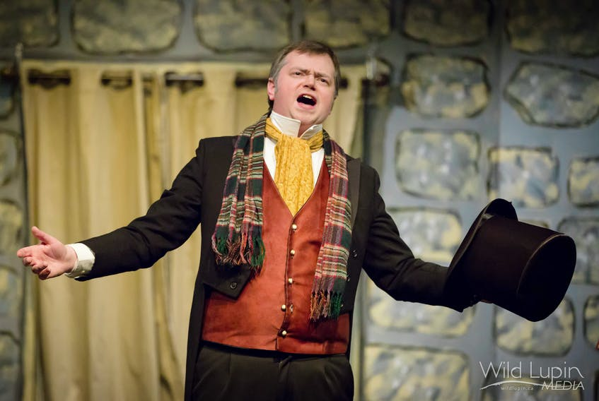 Centrestage Theatre in Kentville presents Scrooge: The Musical starring Alan Slipp as the penny-pinching Ebenezer Scrooge. It's on stage Fridays and Saturdays until December 8. Front of House opens at 6:45, shows at 7:30 p.m. Matinees are on Sundays, Nov. 12, 26, and December 3. Front of House opens at 1:15, shows at 2 p.m.