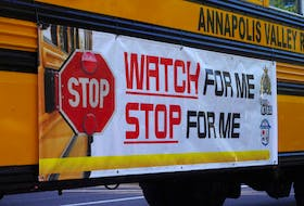 'Watch For Me, Stop For Me' is the RCMP school bus safety campaign slogan and police are urging motorists to heed some simple advice to keep children safe – like slow down when you see a school bus.