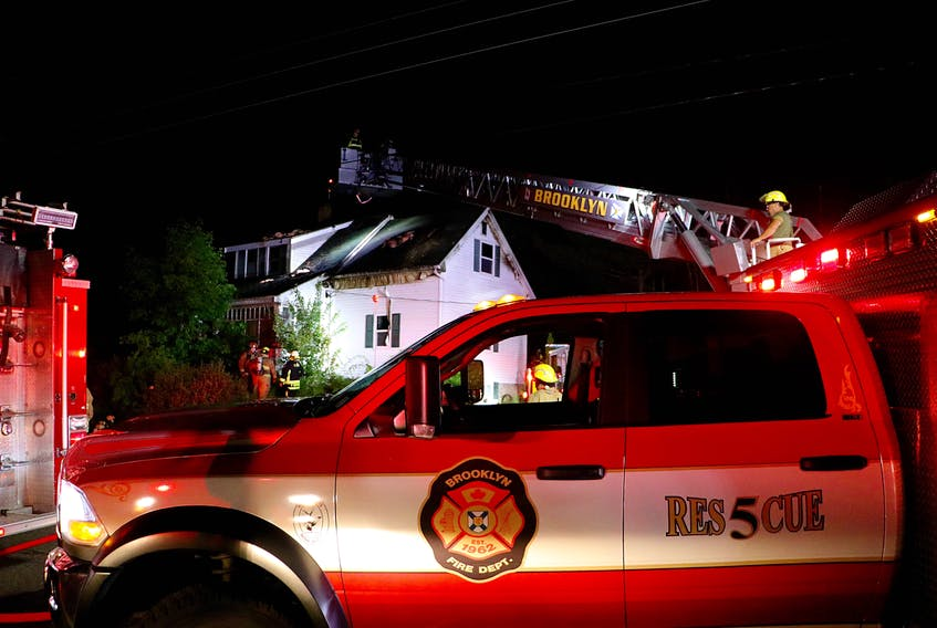A quick response time aided in the quick knock down of a house fire on Bowman Road in the early morning hours of Aug. 2.  ADRIAN JOHNSTONE