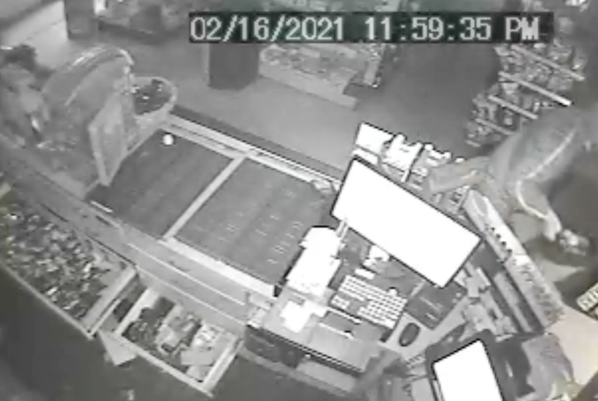Kings District RCMP responded to an alarm at a convenience store on Commercial Street at 1:45 a.m. on Feb. 17. They are turning to the public for help identifying the suspect shown in this photo.