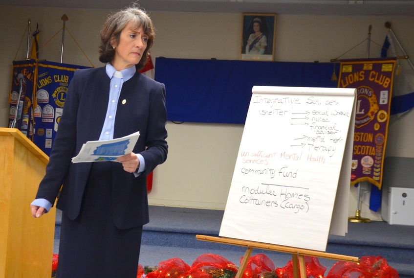 Rev. Christine Gladu, of the Kingston United Church, hosted a meeting on homelessness Nov. 26 with about 40 people attending. She hopes the community will be able to provide more help to people who find themselves on the streets. She also said a look at the root causes of homelessness is necessary and long-term solutions must be found.
