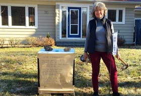 Wolfville resident Elisabeth Kosters posts her 13th poem of the day as a way to spread fun throughout the neighbourhood during COVID-19.