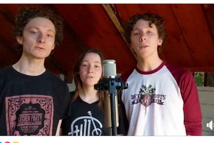 Centre Burlington siblings Frieden, Maisie and Reuben Gilbert are gaining news fans from throughout the world by showcasing their harmonizing prowess on social media at a time when their band can't perform in public.