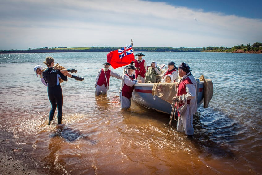 A Heritage Minute telling the story of the Acadian Deportation that was shot last summer at Heustis Beach outside Canning and at the Annapolis Royal Historic Gardens debuts on Aug. 15, National Acadian Day. HISTORICA CANADA