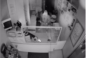Police are turning to the public for help gathering information that could lead to the identities of these two suspects shown in surveillance footage from a recent break-in at a business on Commercial Street in Berwick. Cigarette products were stolen.