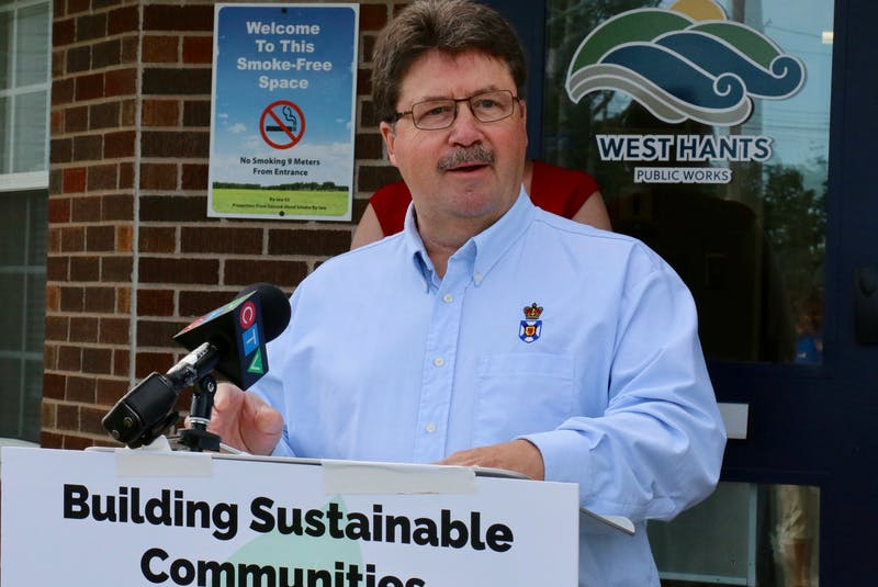 Hants West MLA Chuck Porter announced the provincial government is contributing $462,000 towards water and sewer infrastructure upgrades in Hantsport. - Carole Morris-Underhill
