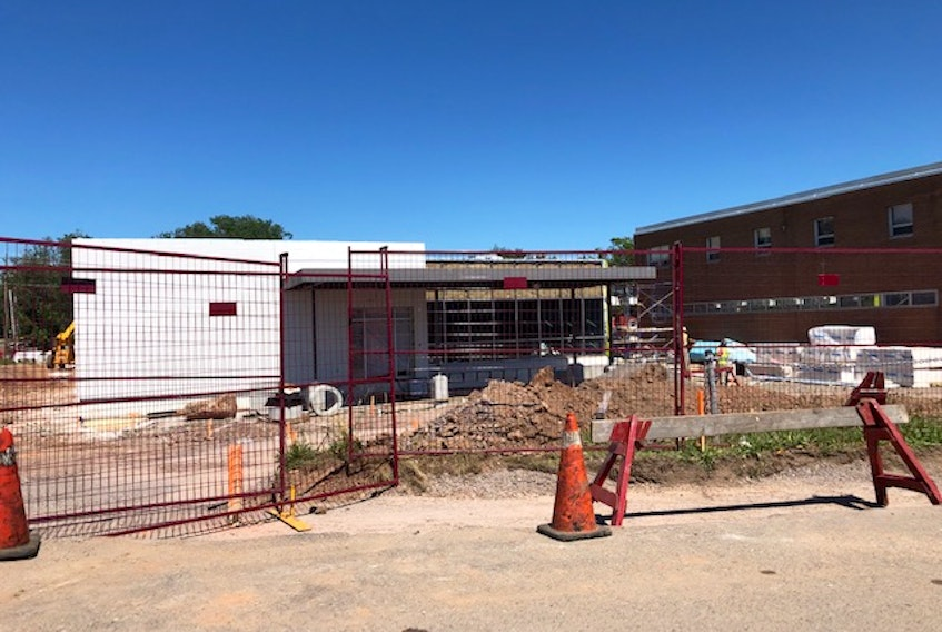 Crews continue to work on the new primary health-care centre under construction beside Soldiers Memorial Hospital in Middleton.