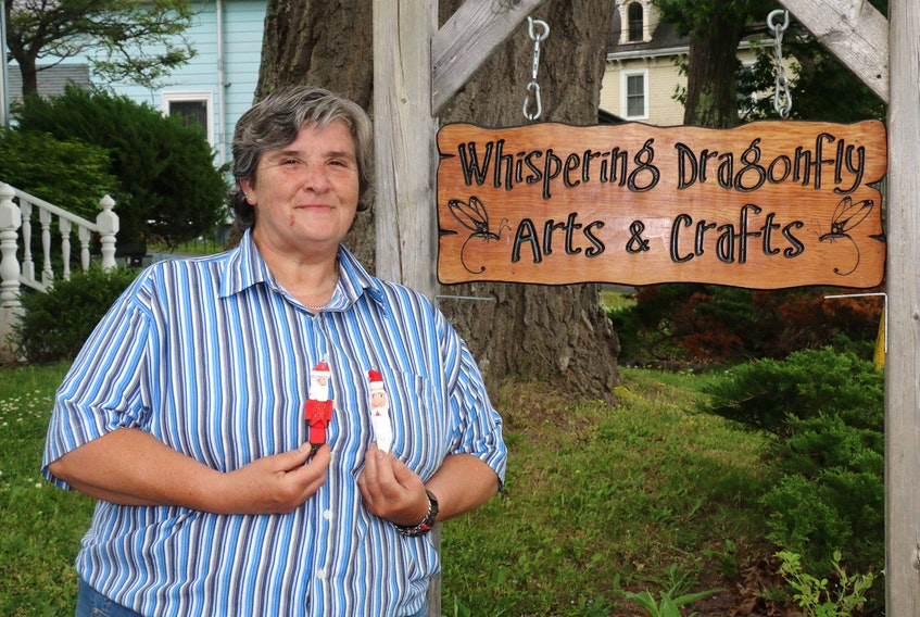 Dianne Lang, owner of Whispering Dragonfly Arts and Crafts in Hantsport, can turn just about any item into a work of art.