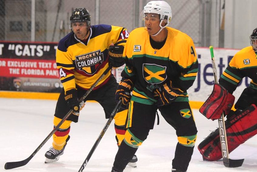 Valley Wildcats defenceman Sounthon Thammachack changed jerseys to play with Jamaica's Reggae Boys in the Amerigol LATAM Cup Tournament in Florida. The Reggae Boys went on to win the tournament, with victories over Columbia, Argentina, Mexico and Brazil.  NHL PHOTO