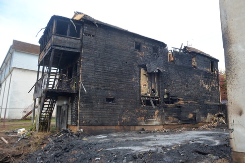 A building to the immediate west of the origin of the structure fire in Canning also took heavy damage. SAM MACDONALD