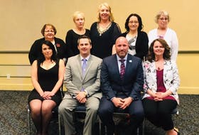 Professional Municipal Administrators board of directors members (back row, from left): Vida Greening, Karen Jennings, Dawn Chaplin, Jeanie Stokes and Yvonne Young and (front from left) Connie Reid, Brian Hudson, Nigel Black and Krista Parsons.