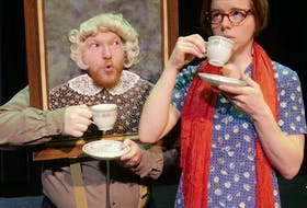 """Bryan Nash, left, and Emma Francis play a variety of roles in """"Lauchie, Liza and Rory,"""" to be staged at Cape Breton University's Boardmore Theatre, Jan. 21-26. CONTRIBUTED"""
