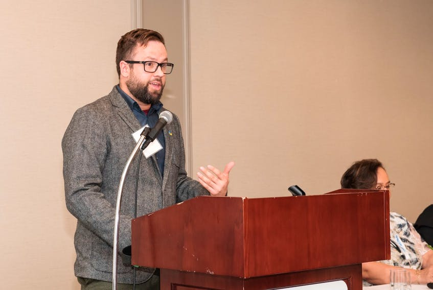 Executive director Alec Stratford at the Nova Scotia College of Social Workers conference in 2019.