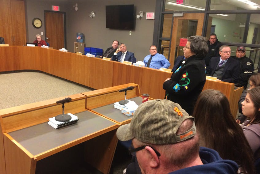 Pictou Landing First Nation Chief Andrea Paul spoke at a council meeting on Jan. 7 for the Municipality of Pictou County.