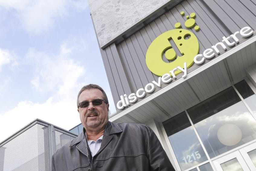 Mark Savory stands outside the Discovery Centre in Halifax on Wednesday.