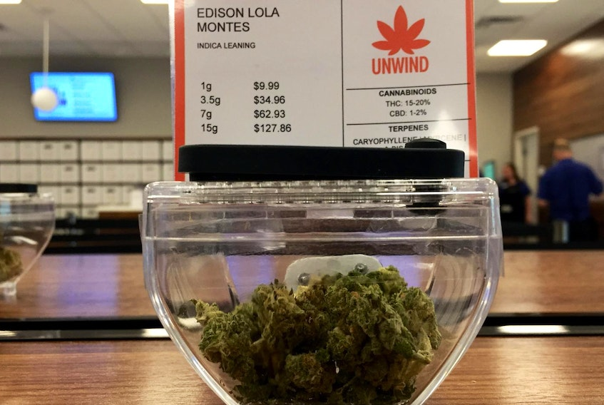 A sample of one of the marijuana varieties available at the NSLC. - Ian Fairclough