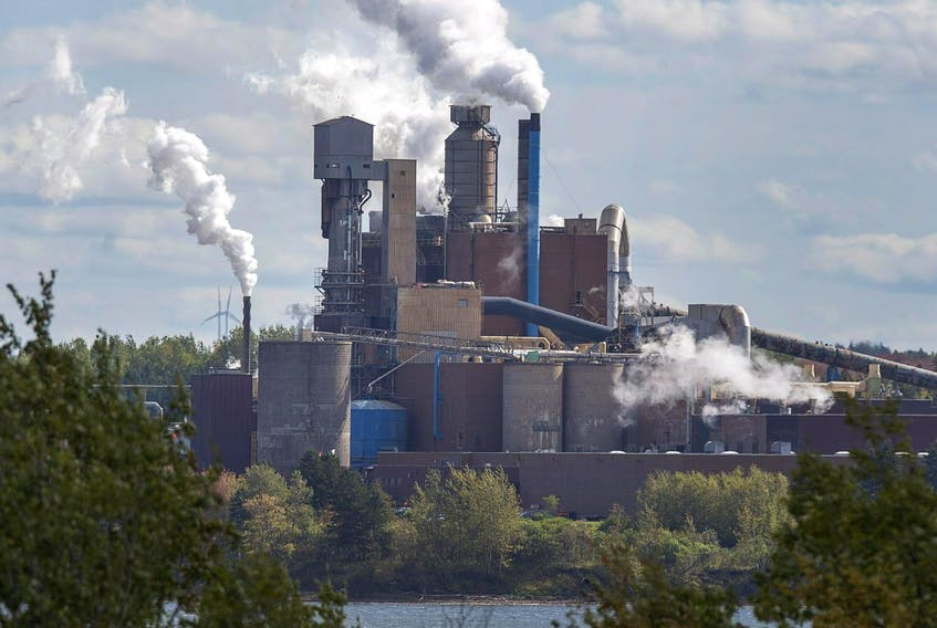 The Northern Pulp mill is seen in October 2017. A plan to dump effluent into the Northumberland Strait has split opinions in area communities.