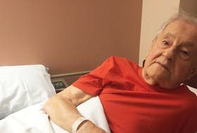 Second World War veteran David Vaughan says he's disappointed that his wife of 70 years is not allowed to live with him at Camp Hill Veterans Memorial Hospital in Halifax. - Andrew Rankin