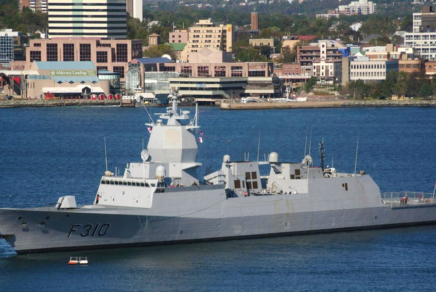 The KNM Helge Ingstad has never been to Halifax, however other ships of the class have. Attached is a photo of lead ship of the class KNM Fridtjof Nansen, from her first visit to Halifax in Sept 2010.