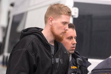 Brandon Jake Hollohan arrives at the Dartmouth courthouse last January to face a charge of second-degree murder. - Ryan Taplin