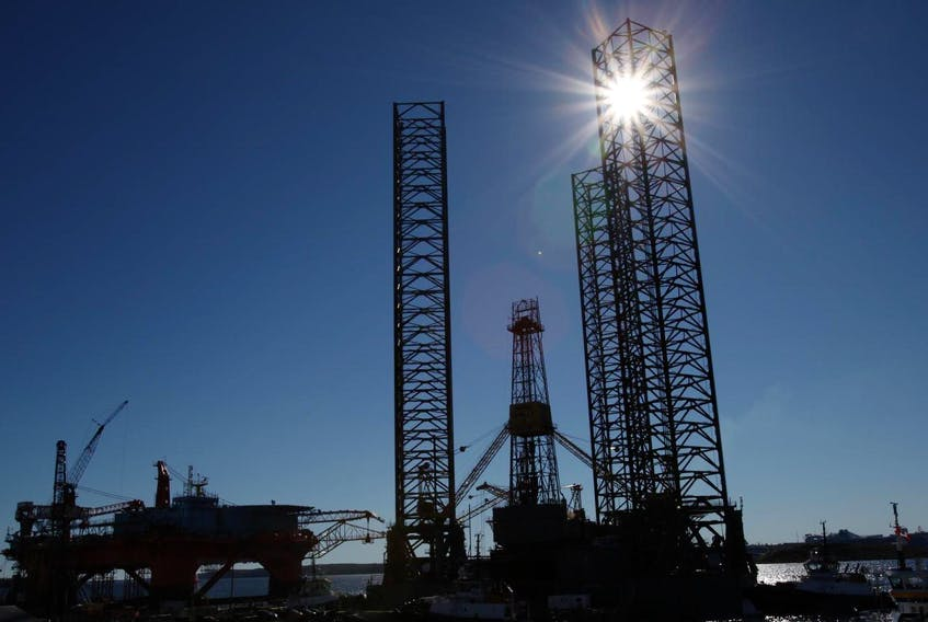 The drilling platform Rowan Gorilla III, shown in 2010, drilled many wells at the offshore Sable and Deep Panuke sites.