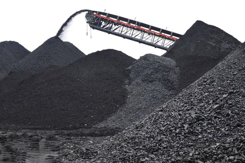 Operations at the Donkin mine have been suspended due to a roof collapse on Dec. 28 during the holiday shutdown. Shortly after the mine opened in 2017, a mountain of coal was created on the site. - CAPE BRETON POST