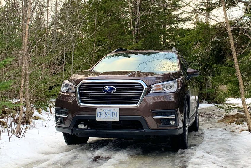 Stop #2 on Lisa's high-points-of-Halifax outing in the 2019 Subaru Ascent, Blue Mountain Birch Cove Lakes Wilderness Area, is an urban wilderness that, once developed with a trail system, will claim the title of largest urban park in North America.
