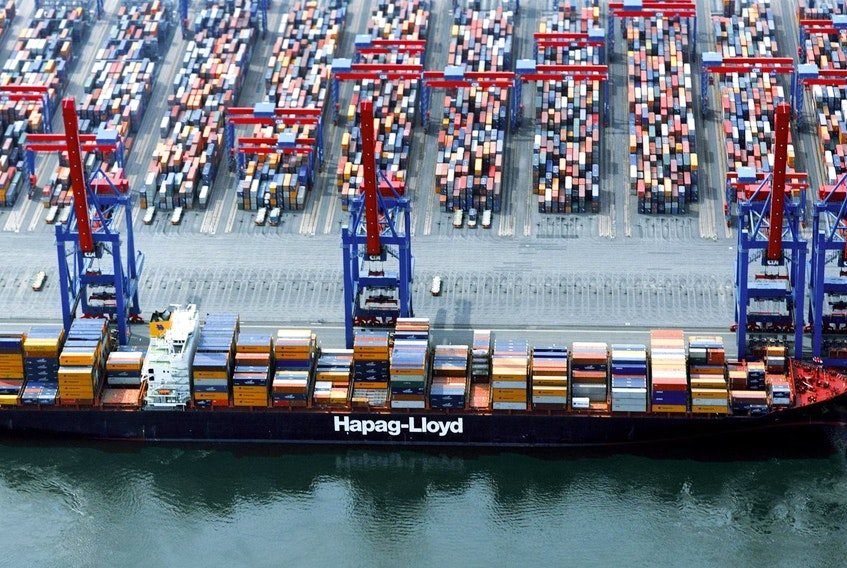 The container ship Yantian Express is shown in a handout photo from Hapag-Lloyd. Crews working to extinguish a fire aboard a large container ship off Canada's east coast are facing some big challenges, an expert in offshore safety says.  HAPAG-LLOYD
