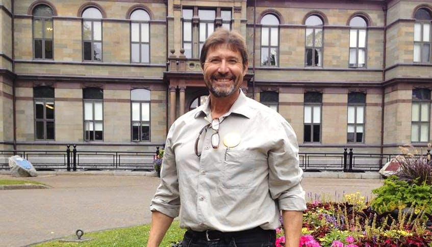 Richard Zurawski stands in front of Halifax city hall in 2019. - Facebook - The Chronicle Herald