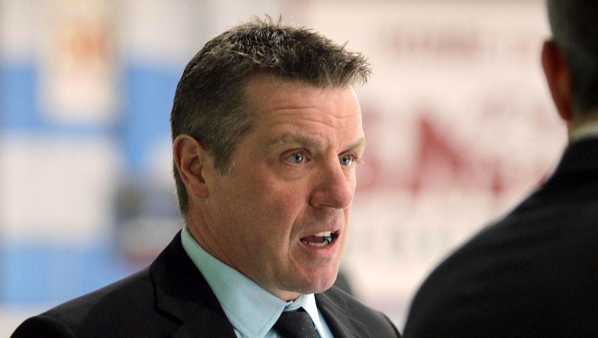 St. Francis Xavier men's hockey head coach Brad Peddle. - Eric Wynne