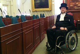 Kevin Murphy, Speaker of the Nova Scotia legislature, in the house on the 200th anniversary of the province's house of Assembly. - John DeMont