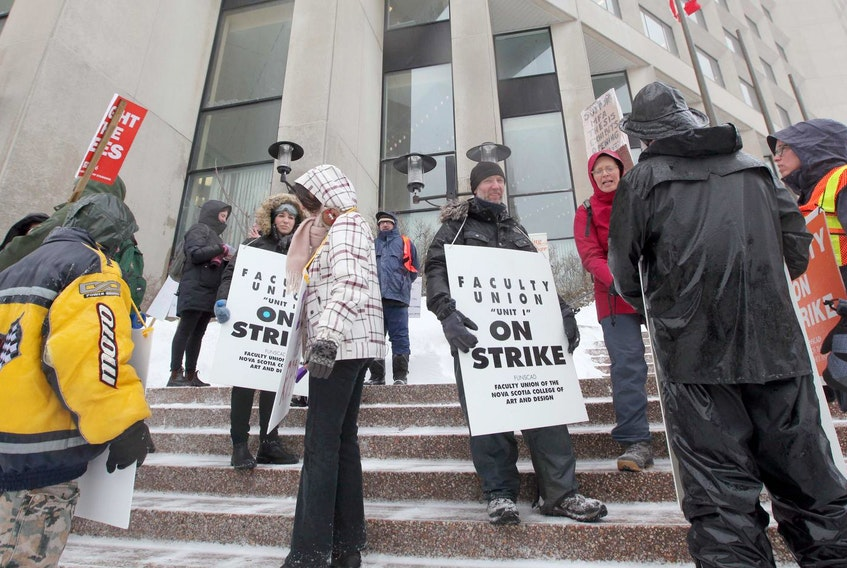 Ninety-five full-time, pro-rated and regular part-time faculty and librarians at the Nova Scotia College of Art and Design went on strike on March 1. - File