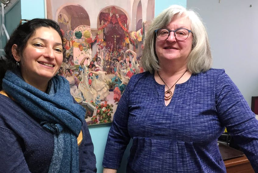 Shiva Nourpanah, co-ordinator of Transition House Association of Nova Scotia, and Georgia Barnwell, co-ordinator of Women's Centres Connect, are part of a group of organizations who oppose dropping a moratorium on the use of restorative justice in cases of domestic and sexualized violence without proper consultation. - Stuart Peddle