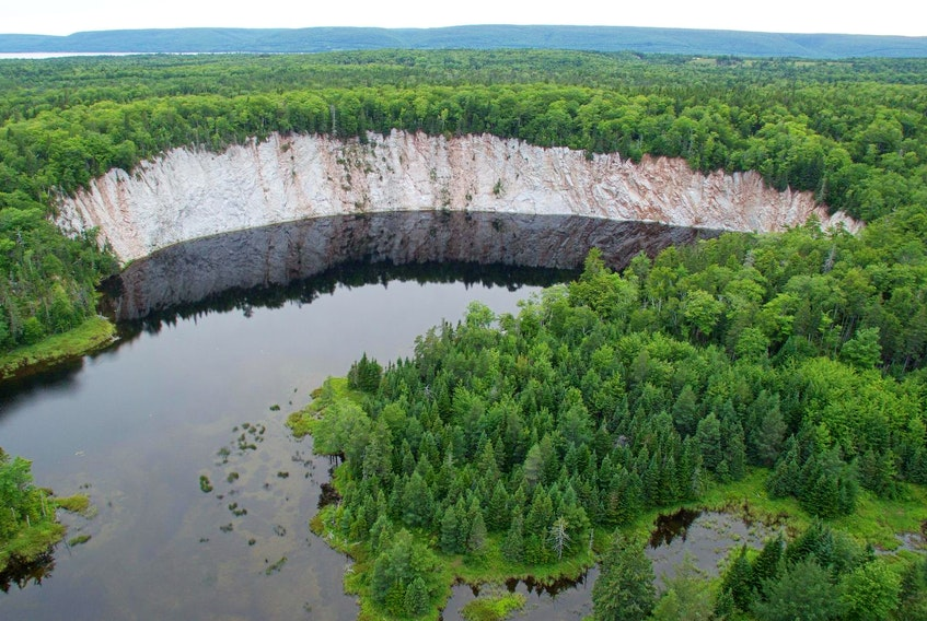 This gypsum landscape in Cape Breton could be protected with the province's new biodiversity act. - Mike Dembeck