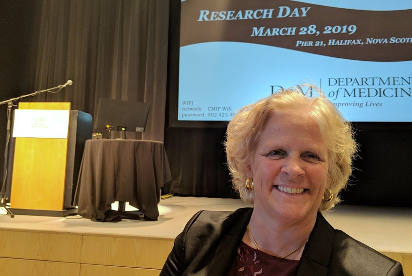 Dr. Heather Ross, director of cardiology at the Peter Munk Cardiac Centre in Toronto, advocated the use of remote patient monitoring using cell phones in a presentation to Dalhousie University researchers at Pier 21 on Thursday. - John McPhee
