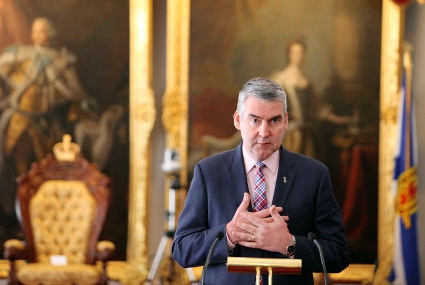 Premier Stephen McNeil speaks on the Human Organ and Tissue Donation Act, which he presented to the legislation on Tuesday morning. The act, which won't be proclaimed for at least a year, will presume everyone to be a potential donor unless they or their family opts out. - Eric Wynne