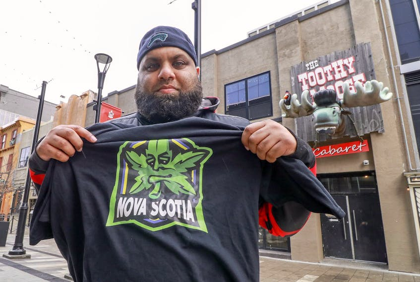 Accusations are being traded over what led to the cancellation of the first marijuana-themed pub crawl in Halifax. Shown here is Krishna Parmar, owner of Dartfrog Events, who organized the event. - Eric Wynne