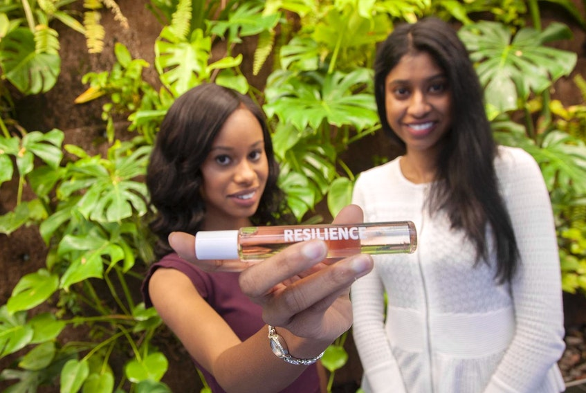 Ariel Gough and Edwina Govindsamy are co-founders of Bailly, a cruelty-free, vegan perfume. The duo are working in the fragrance industry in part to address fragrance sensitivity, which prevents some people from wearing perfume.