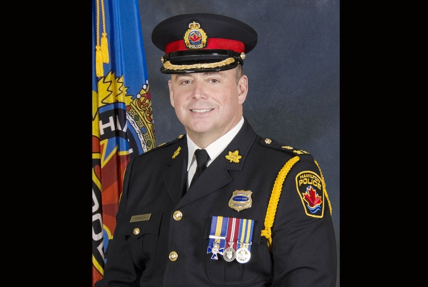 Dan Kinsella is leaving the Hamilton Police Service to become the new chief of the Halfiax Regional Police. - Hamilton Police Service