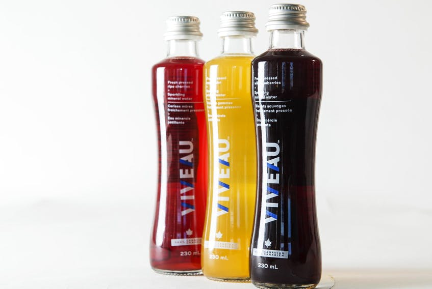Hanspeter Stutz, owner of Domaine de Grand Pre winery, has partnered with Ted Grant to create Viveau, a company that is combining Nova Scotia fruit juice with mineral water to make a healthy drink for export and the domestic market.