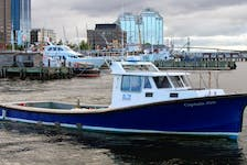 Captain Jim, a 12-metre boat, sank off Devils Island at the mouth of Halifax Harbour in the early morning hours of Jan. 29. - Mac MacKay