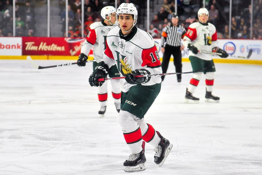 BO Groulx scored in double overtime to help the Halifax Mooseheads defeat the Rouyn-Noranda Huskies 5-4 in a road playoff game on Friday. (QMJHL)