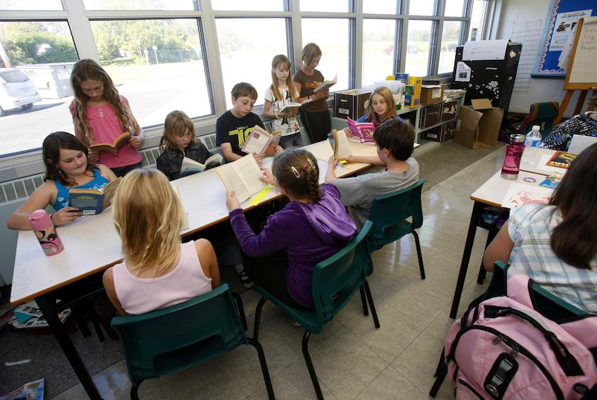 Bell Ayr Elementary School students during a reading period in 2009.