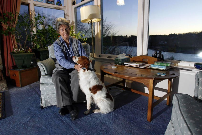 Janet Kitz, the author of Shattered City on the Halifax Explosion, is seen in her home overlooking Halifax's Northwest Arm in this 2007 file photo. Eric Wynne