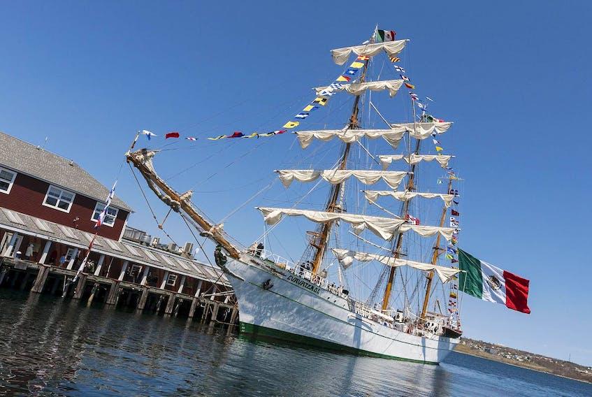 The Mexican Navy's tall ship, ARM Cuauhtémoc, made an appearance at Pier 24 last week. - David Grandy