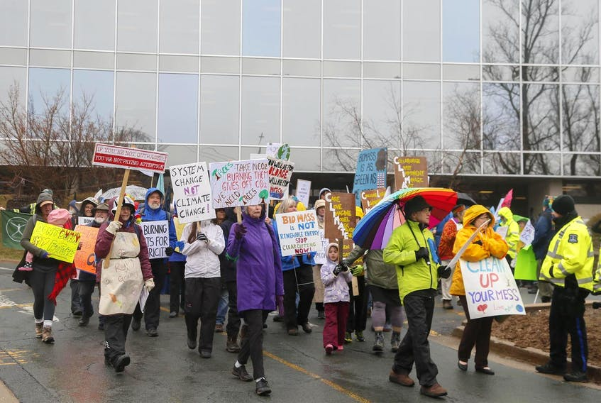 Demonstrators take part in the Extinction Rebellion rally on April 15, 2019. A recent survey sugests Atlantic Canadians are becoming increasingly politically engaged and progressive. - Tim Krochak